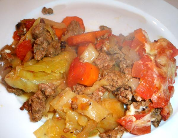 Cabbage Burger Casserole