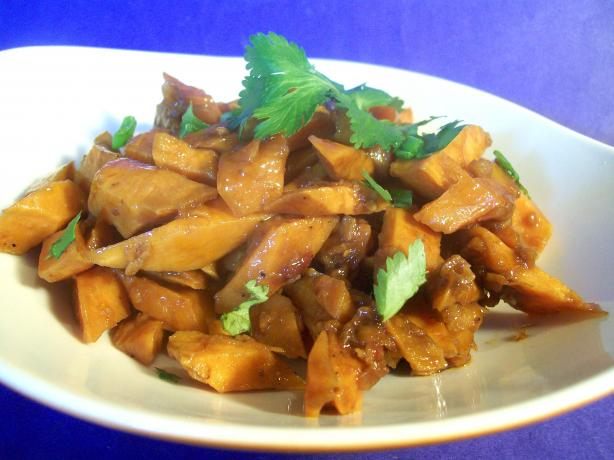 Stir-Fried Spicy Sweet Potatoes