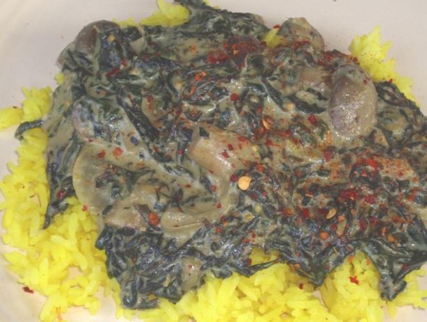 Spinach and Mushroom Korma
