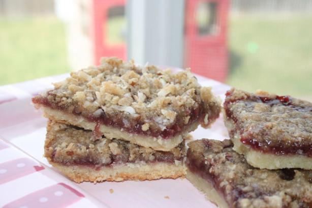 Raspberry Bar Cookies