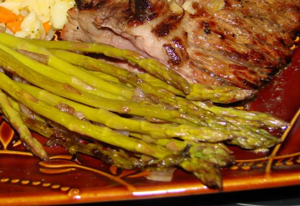 Grilled Asparagus W/ Balsamic Vinaigrette