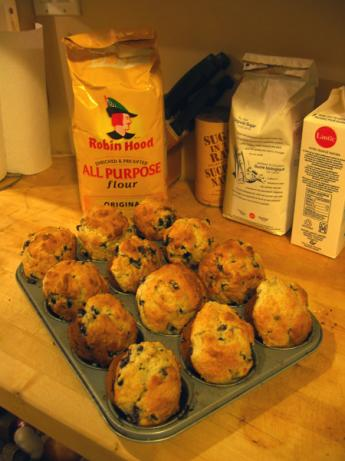 Big Blueberry-Busting Muffins