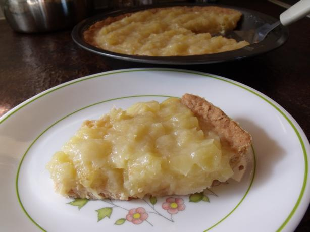 Pineapple Pie With Shortbread Pie Crust