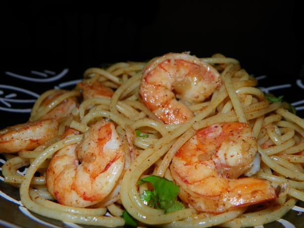 Nif's Pasta and Shrimp