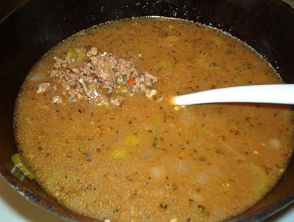 Beef and Green Chili Soup! Sure to Warm You Up!