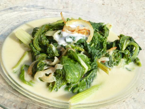 Coconut Milk Braised Greens