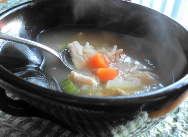 Hedda's Chicken(Or Turkey) and Rice Soup
