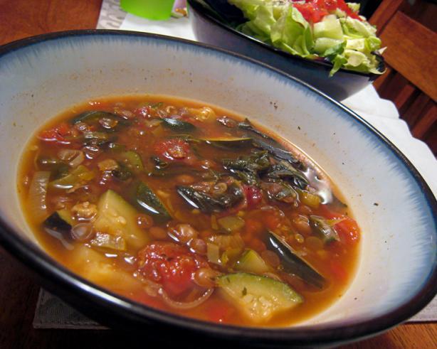 Lemony Lentil Chard Soup