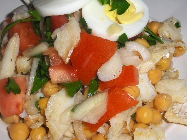 Portuguese Chickpea and Cod Salad