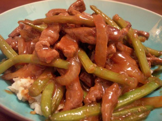 Hoisin Slivered Beef With Green Beans