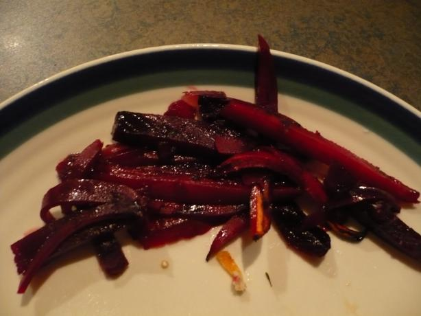 Orange Ginger Beets With Carrots
