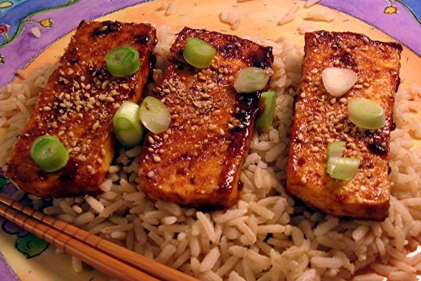Crispy Tofu With Sweet & Tangy Glaze