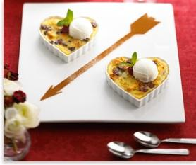 Cherry Bread Pudding With Chavrie