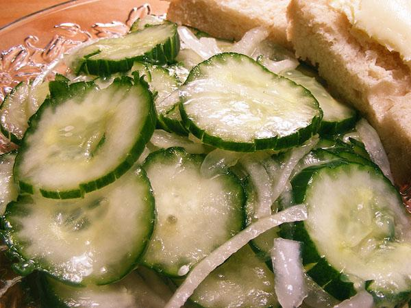Simple Cucumbers and Onions