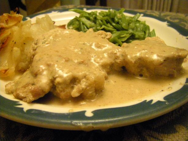 Pork Chops in Creamy Herbed Brandy Sauce