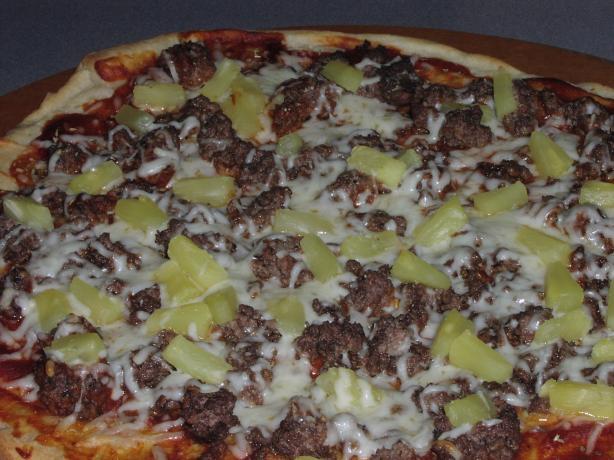 Lower Fat Hamburger Pizza