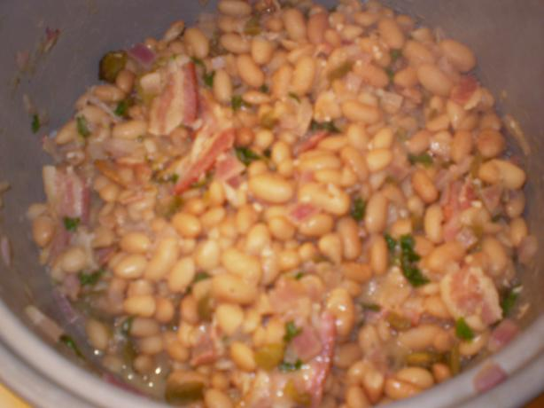 Drunken Peruano Beans With Cilantro and Bacon