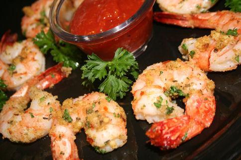 Shrimp Scampi - Broiled