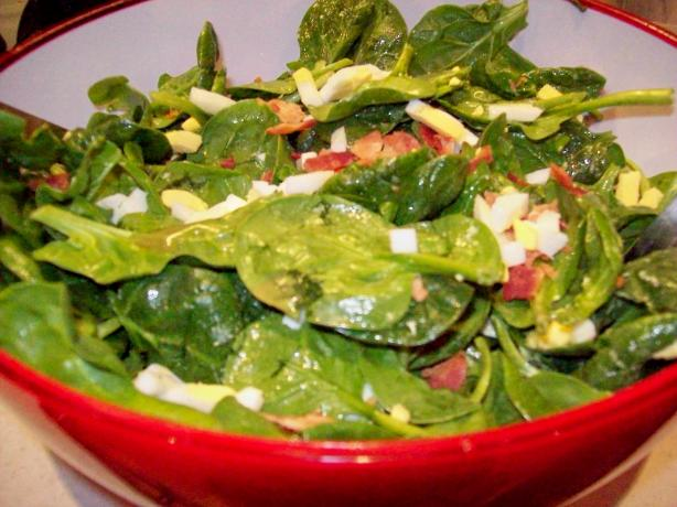 Becky's Grandma's Egg & Spinach Salad