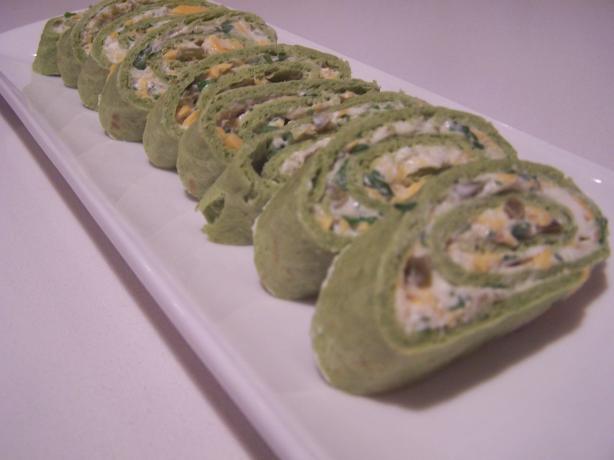 Not so Irish, Green Tortilla Appetizers