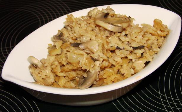 Mushroom and Rice Bake