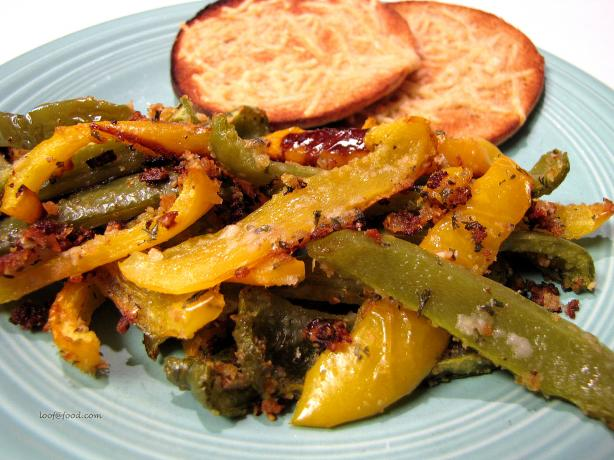 Baked Peppers Au Gratin