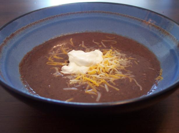 Seriously Seasoned Black Bean Soup