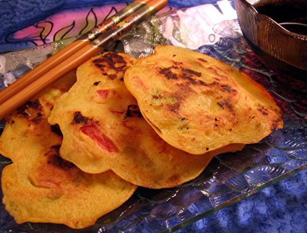 Korean Shrimp and Scallion Pancakes