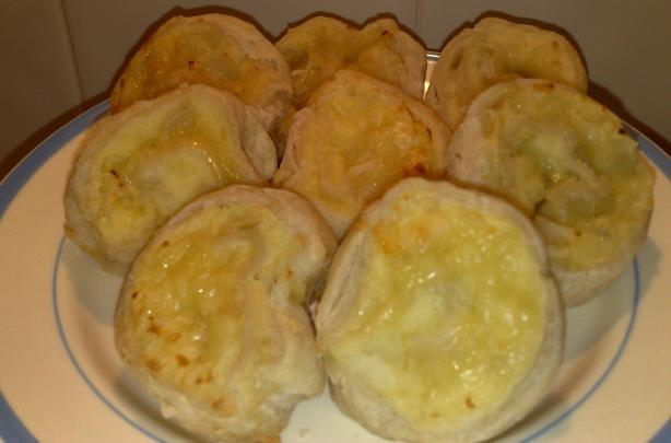 English Pastry Pinwheels With Cheese and Onion