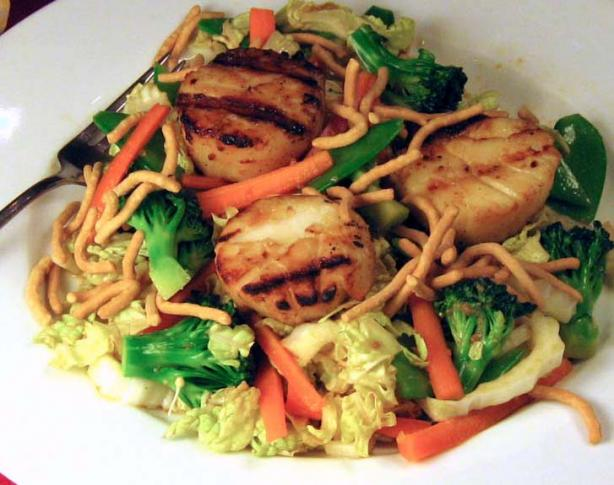 Grilled Scallop Teriyaki Salad