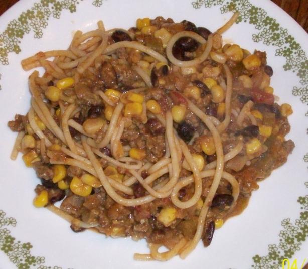 Taco Spaghetti Casserole