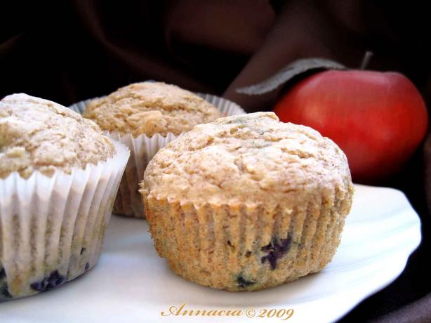 Low Cal Blueberry Applesauce Muffins