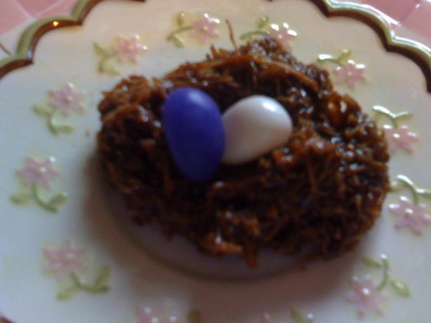 No Bake Bird's Nest Cookies