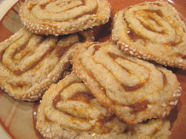 Oat and Pumpkin Pinwheels