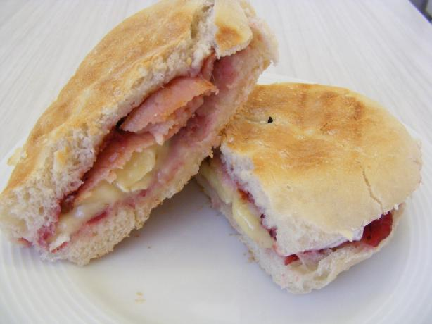 Brie, Cranberry and Bacon Panini