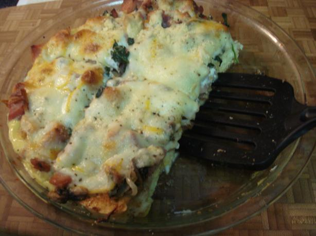 Ham, Spinach and Fontina (Or Gruyere) Strata