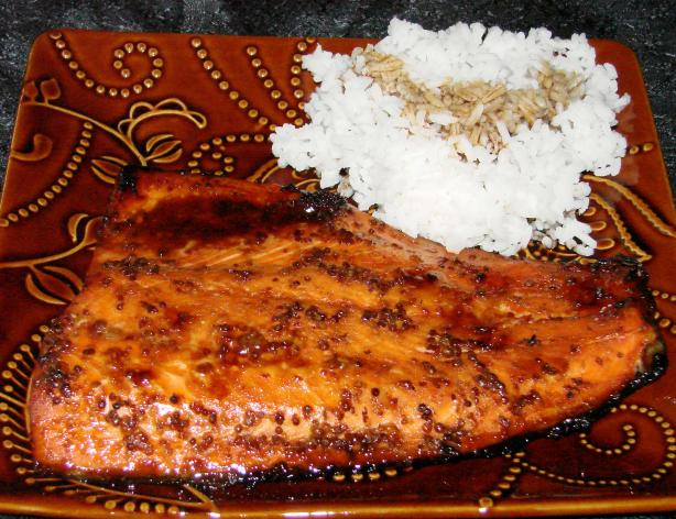 Glazed Broiled Salmon