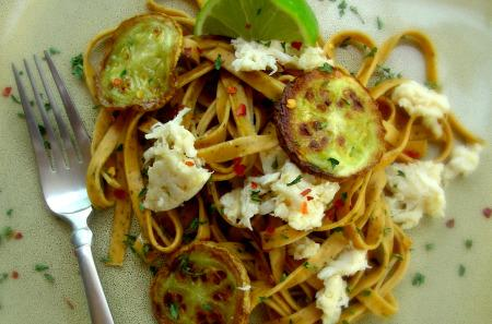 Crab and Zucchini Linguine