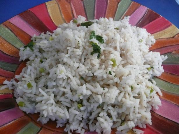Mint-Cilantro and Coconut Rice