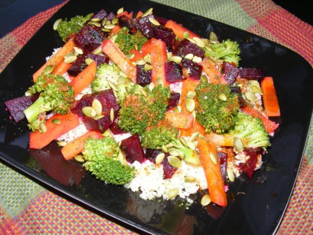 Superfood Salad With Moroccan Dressing