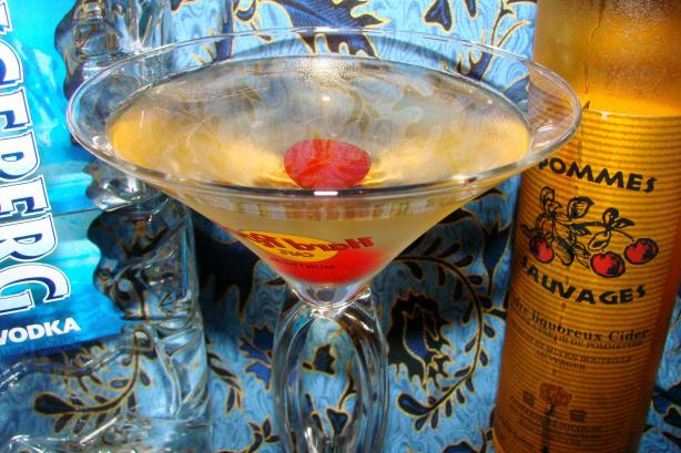 Ice Apple Wine Martini