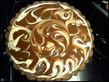 Chocolate Eggnog Swirl Pie