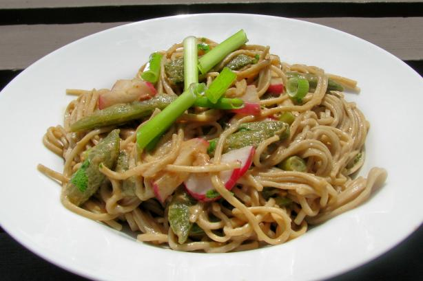 Snow Peas and Soba Noodles