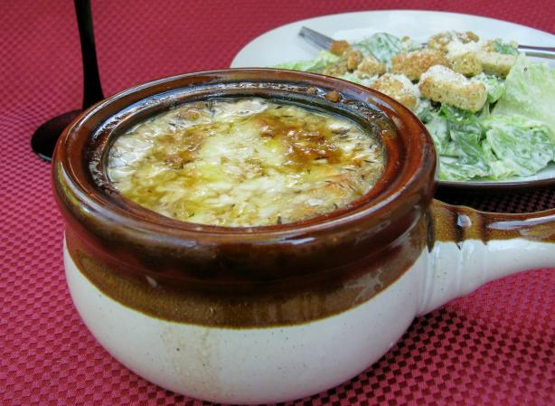 Gratineed Onion Soup Recipe
