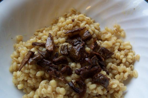 Barley With Dried Mushrooms