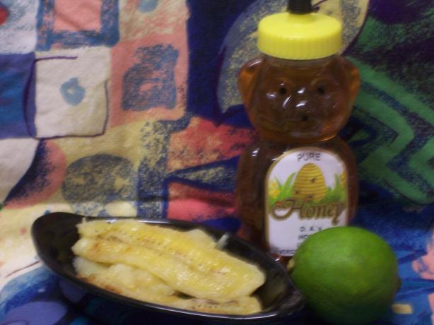 Honey Lime BBQ Bananas
