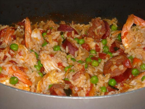 Another Quick Shrimp and Chorizo Paella