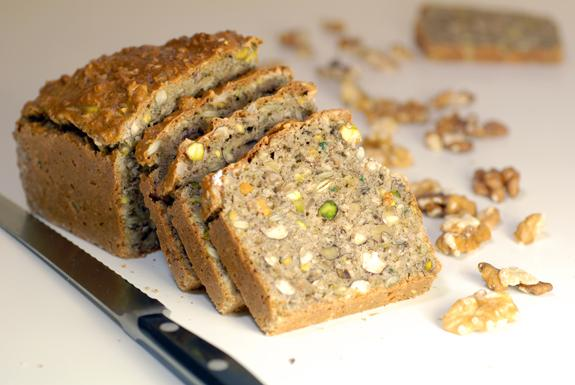Gluten Free and Grain Free Nut Bread