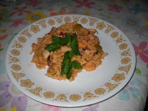 Portuguese Arroz Con Mariscos-Seafood and Rice