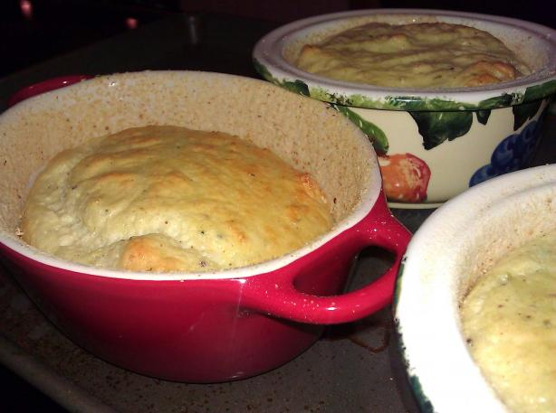 Leek and Stilton Souffles